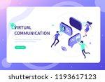 virtual reality communication... | Shutterstock . vector #1193617123
