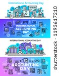 accounting day banner set.... | Shutterstock .eps vector #1193617210