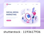 social media marketing concept... | Shutterstock . vector #1193617936