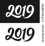 happy new year 2019 greeting... | Shutterstock .eps vector #1193618896