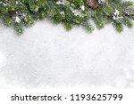 christmas fir tree branch... | Shutterstock . vector #1193625799