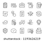 approve line icons. set of... | Shutterstock . vector #1193626219