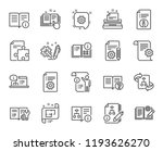 technical documentation line... | Shutterstock . vector #1193626270
