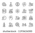 human resources line icons. set ... | Shutterstock . vector #1193626300