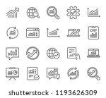 analysis  statistics line icons.... | Shutterstock . vector #1193626309