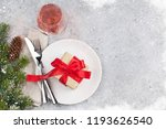 christmas table setting with... | Shutterstock . vector #1193626540
