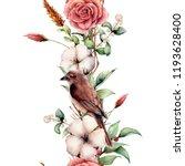 watercolor vertical border with ...   Shutterstock . vector #1193628400