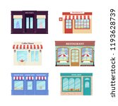 shop  store front. vector.... | Shutterstock .eps vector #1193628739