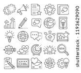 brand icon set. outline set of... | Shutterstock .eps vector #1193629090