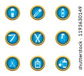 clipping icons set. flat set of ... | Shutterstock .eps vector #1193630149