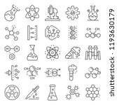 chemistry lab icon set. outline ... | Shutterstock .eps vector #1193630179