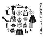 clearance sale icons set.... | Shutterstock .eps vector #1193630260