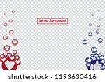 social nets blue thumb up like... | Shutterstock .eps vector #1193630416
