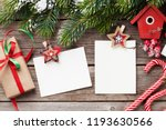 christmas blank photo frames ... | Shutterstock . vector #1193630566