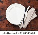 table setting. empty plate ... | Shutterstock . vector #1193630620