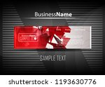 red and black contrast abstract ...   Shutterstock .eps vector #1193630776