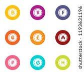 monetary system icons set. flat ... | Shutterstock .eps vector #1193631196