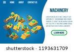 machinery concept banner....   Shutterstock .eps vector #1193631709