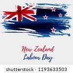 new zealand labour day holiday... | Shutterstock .eps vector #1193633503