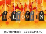 halloween tag on colored... | Shutterstock . vector #1193634640