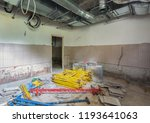 disassembled scaffolding in the ... | Shutterstock . vector #1193641063