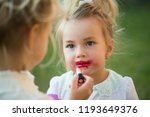 skincare  visage  make up. girl ...   Shutterstock . vector #1193649376