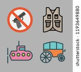 army icon set. vector set about ... | Shutterstock .eps vector #1193649880