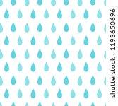 rain seamless pattern. flat... | Shutterstock .eps vector #1193650696