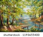 Oil Painting Landscape   Autumn ...