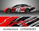 car wrap design vector. graphic ... | Shutterstock .eps vector #1193658283