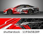 car wrap design vector. graphic ... | Shutterstock .eps vector #1193658289