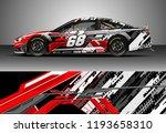 car wrap design vector. graphic ... | Shutterstock .eps vector #1193658310
