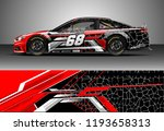 car wrap design vector. graphic ... | Shutterstock .eps vector #1193658313