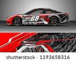 car wrap design vector. graphic ... | Shutterstock .eps vector #1193658316