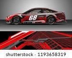 car wrap design vector. graphic ... | Shutterstock .eps vector #1193658319