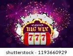 big win glowing banner for... | Shutterstock .eps vector #1193660929
