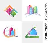 logo template real estate ... | Shutterstock .eps vector #1193665846