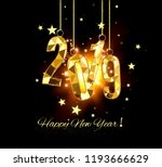happy new year and merry... | Shutterstock .eps vector #1193666629