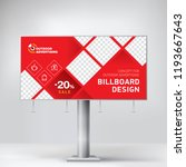 billboard  creative design for... | Shutterstock .eps vector #1193667643