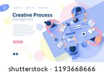 flat design  web page template... | Shutterstock .eps vector #1193668666
