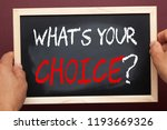 what's your choice  question... | Shutterstock . vector #1193669326