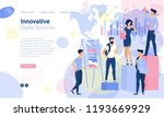 flat design  web page template... | Shutterstock .eps vector #1193669929