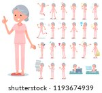 a set of senior women with who... | Shutterstock .eps vector #1193674939