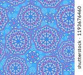seamless oriental ornamental... | Shutterstock .eps vector #1193676460