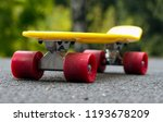 yellow skateboard with red... | Shutterstock . vector #1193678209