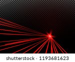 abstract red laser beam.... | Shutterstock .eps vector #1193681623