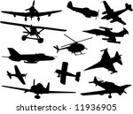 set of fight plane vector