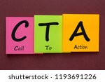 call to action written on color ... | Shutterstock . vector #1193691226