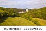 aerial view of karlstejn castle.... | Shutterstock . vector #1193695630