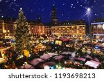 christmas market in dresden ... | Shutterstock . vector #1193698213